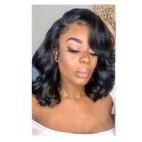 New arrival Body Wave Short Bob Wig Lace Front Human Hair Wigs For Black Women curly wavy 360 Frontal Pre Plucked Brazilian Hairs 150%density