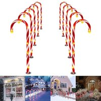 Strings USB Powered Light String Christmas Candy Cane Lights Outdoor Warm LED Home Garden Ground Plug Crutch Year Decor