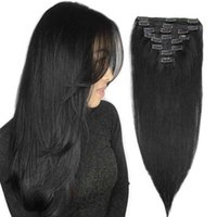 Isheeny in Hu 8pcs / Set Seamls Natural Blonde Hair Remy Extensions Tête Brésilien Pure Color Clip Ins