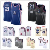 2021 Basketball Jersey21 Joel Embiid Allen Iverens Jersey