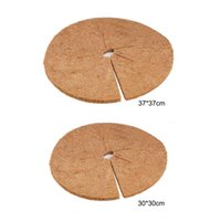 Planters & Pots Coconut Fibers Mulch Ring Tree Disc Plant Cover Planter Protector Mat For Indoors Outdoors Plants Pot Needle Pad
