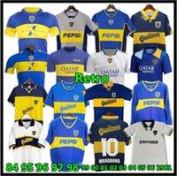 84 95 96 97 98 Boca Juniors Jersey Retro Soccer Maillot Maradona Roman Canégigia Riquelme 1997 2002 Chemises de football Palerme Maillot Camiseta de futbol 99 00 01 02 03 04 05 06 1981