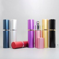 10ml Mini Spray Perfume Bottle Travel Empty Cosmetic Container of toner, Pure Dew, Atomizer Aluminum+ glass Refillable Bottles BWF6980