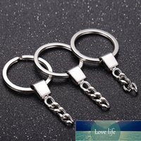 12Pcs Lot Minimalist 30mm Polished Simple Keyring Keychain Key Fob Split Ring Short Chain DIY Craft Unisex Jewelry Accessories Factory price expert design Quality