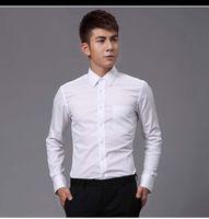 Groom Shirts Style Top Quality White Men's Wedding Apparel Wear man shirt clothing OK:02