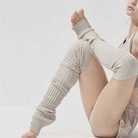 Women Thigh High Pirouette Leg Warmer For Woman Extra Long Boot Socks Over the Knee Cable Knit Yoga Dance Socks H0911