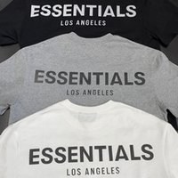 Essentials Los Angeles Limited Reflective Couple Coppia Top T-Shirt Fog High Street Street Sleeve Sleeve Tee WGTX37010