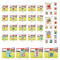 Summer Garden flag courtyard Flags welcome yard Banner double sided linen material 45*30CM 300pcs lot T10I61