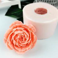 Herramientas artesanales Przy 3D Bloom Flor Molde de silicona Hecho a mano Pastel de boda DIY Magdalena Vela de jalea Pétalos Moldes