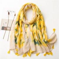 Bohemio algodón y ropa de invierno bufanda para mujer primavera y otoño estilo coreano versátil bufanda pavo real retro estilo étnico chal bufanda