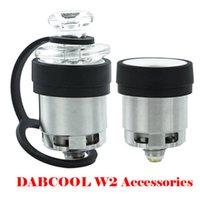 Acessórios para fumar Substituição Dabcool W2 Atomizers Original Dab Rig Rig Water Tube Cup Cup Cartridge Bobina Bobina com Cabelo Carb