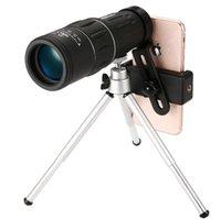 16x52 Telescopio de actualización HD Monocular Alcance de la computadora de mano para el senderismo al aire libre con el soporte de teléfono inteligente universal y el trípode reloj fútbol 484 x2