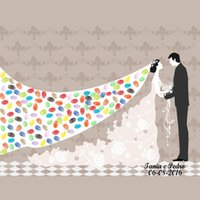 Party Decoration Haochu! (Árvore de impressão digital + 2 conjuntos de presente Inkpad) Canvas Wedding Tree Signature Book Reservar 27 estilos