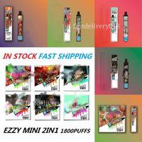 Ezzy Mini 2 en 1 Dispositivo vape desechable Pod E Cigarrillos 6.8ml Kit de pluma 800mAh Batería de 800mAh 1800puffs Dual Interruptor VS Bang Pro Max Swith 2In1 link XXTRA Bar Plus Randm Dazzle 2021