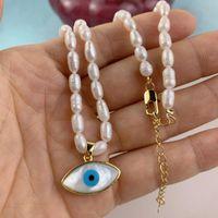 Натуральное жемчужное зное ожерелье для глаз мода мать оболочки подвесные ожерелья из бисера для женщин 2021Гифт ювелирных изделий