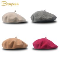 Fashion Wool Baby Hat for Girls Candy Color Elastic Infant Beret Kids Caps 1-4 Years 1 PC 0724