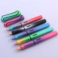 Cor alta qualidade qualidade gradiente EF Nib azul roxo aurora fonte caneta papelaria escritório escola supli