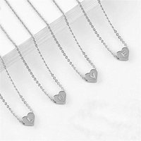 Chains Necklace For Women Tiny Initial Letter Pendant 26 Alphabet Charms Gold Link Chain Necklaces Name Collares Mujer Jewelry
