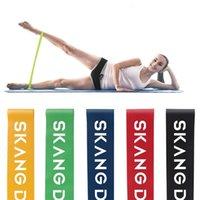 Banda di resistenza fitness 5 pz / set di esercizio stretching cintura tote bag lattice esercizio palestra yoga pilates bodybuilding