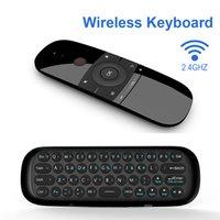 플라이 에어 마우스 스마트 홈 TV W1 무선 키보드 블루투스 Android IR 원격 제어 공기 마우스 안드로이드 박스 / PC / TV 용