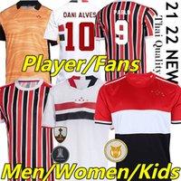 21/22 Sao Paulo Soccer Jerseys Fans Spielerversion Brenner Pato Pablo Dani Alves 2021 2022 São Paulo Camisa de Futebol Männer Wome Kids Kits Weste Torhüter Fußball Hemd