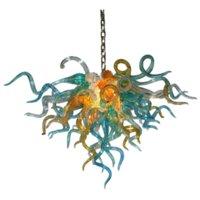 Modern Art Glass Chandelier Led Pendant Light for Living Room Bar 110-240V Hand Blown Glass Ceiling Lamp 70 by 60 cm Nordic Lights