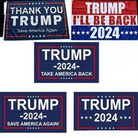 Trump 2024 Flag U.S. Bannière électorale générale 2 œillets de cuivre Prenez l'Amérique Drapeaux Drapeaux Polyester Décoration intérieure extérieure 90 * 150cm / 59 * 35Inch JY0505