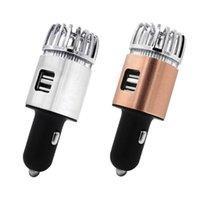 자동차 공기 청정기 2 in 1 듀얼 USB 신선한 이온 정수기 산소 바 오존 이오 나이저 클리너
