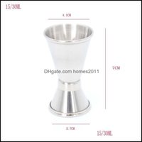 Tools Barware Kitchen, Dining Home & Gardendouble Sided Cocktail Bar Cups Stainless Steel Jigger Bartender Drink Mixer Liquor Measuring Cup