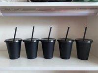 أسود اللؤلؤ 50 أجزاء 16 أوقية البلاستيك المشروبات البحول العصير والحنان ماجيك ستاربكس كأس القهوة أكواب بلاستيكية مخصصة