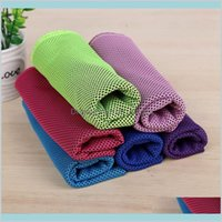 Textiles Home Garden Ice Cold Multicolor 8030Cm Summer Anti Sunstroke Instant Cooling Heat Relief Reusable Chill Quick Dry Cool Towel