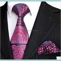 Cravates à cou accessoires de mode E4 Cravate Ensembles rose bleu marine bleu motif floral mouchoir pour hommes mouchoir de mouchoir 100percent de soie