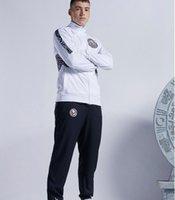 Costume de costume de costume de costume club de futbol-américain kit de football en jersey blanc d'entraînement blanc 2021 bwhite football costumes veste + pantalon
