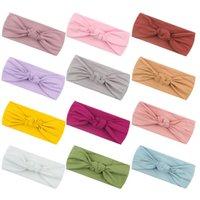 Baby Girls Headbands Kids Elastic Cotton Hairband Turban Knot Headwear Newborn Hair Accessories