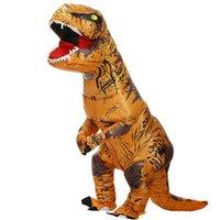 التميمة أزياء t-rex الديناصور نفخ زي حزب ازياء يتوهم التميمة أنيمي هالوين زي للبالغين أطفال دينو كارتونكاساست