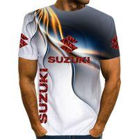 Yaz Açık Spor Yarış Cross-Country Bisiklet 3D Baskı Suzuki Motosiklet erkek Kısa Kollu Tişört