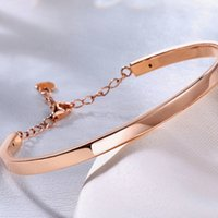 Bracelets Classic Glossy Rose Color 18k True Real Solid Gold Bangles Upscale Wedding Anniversary Jewelry for Women Girl Female Fancy