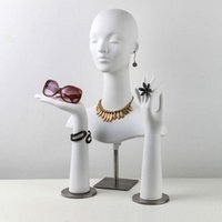 Jewelry Pouches, Bags High Quality Female Mannequin Dummy Head And Hands For RingEarring Necklace Hat Sunglass Display Manikin Torso