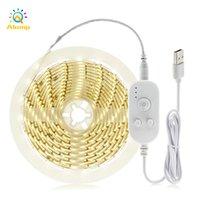 2835 LED tiras de indução de corpo humano 5V USB alimentado a luz de tira sem fio para escadas guarda-roupa gabinete lateral luzes da noite