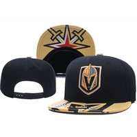 New Caps Vegas Golden Knights Hóquei Snapback Bonés Preto Cor Cap de Ouro / Preto / Cinza Visual Team Hats Mix Match Order Todos os Caps Top Quality Hat