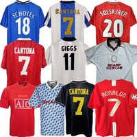 Retro United 2002 Soccer Jersey Man Football Giggs Scholes Beckham Ronaldo Cantona Solskjaer Manchester 07 08 93 94 96 97 98 99 88 90 91 90 91 91
