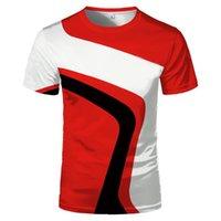 Camisa de 3Dt impressos masculinas e de mangas curtas de manga curta T-shirt de verão