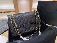 Moda de lujo de lujo diseñador bordado rombico bordado Crossbody Bag Classic Caviar Flap Ladies Wallet con cadena de cuero de metal bolso de un hombro