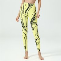 Women's Skinny High Waisted Tummy Control Yoga Stripe Workout Long Pants Leggings Compression Sports Gym Tights Running Training Athletic Bottoms