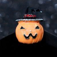 Christmas new creative alloy oil dripping pumpkin brooch with diamond, Halloween Brooch Pin, BROOCH BADGE
