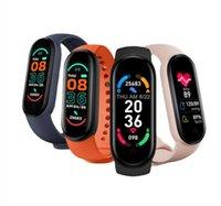 M6 الذكية سوار الأساور الرياضة الفرقة 6 اللياقة تعقب passometer معدل ضربات القلب المستقرة تذكير الهاتف البحث عن الساعات الروبوت للماء pk m5 smartwatch fitpro