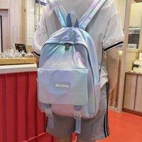 Backpack Fashion Women Laser Waterproof Nylon Students Bookbag Harajuku Large Capacity Travel Female School Bags