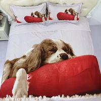 Bedding Sets 3D Print Pet Dog Bed For Girl Duvetcover&2pcs Pillowcase Super Soft Comfortable Cartoon Kids Quilts Cover Set 2 3 Pcs