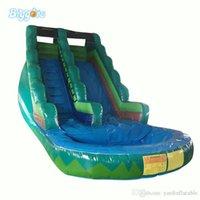Venda quente PVC Água Comercial Dupla Slide Inflável Jum Pool para Crianças e Adultos Jogo