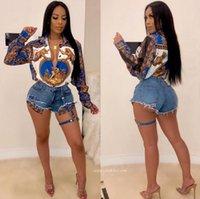 Случайные буквы напечатанные ослабесы шеи женские длинные рукавы рубашки топы блузки мода женские животные рисунок дизайнерская одежда